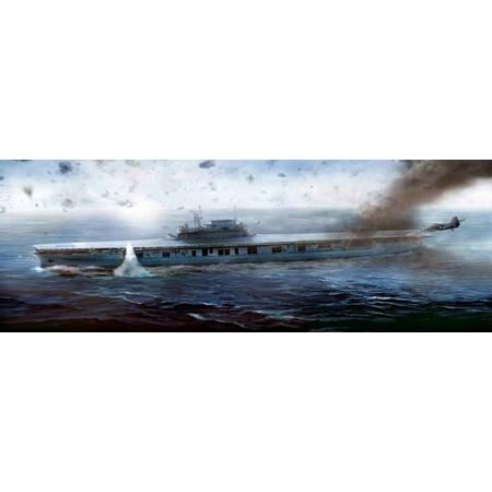 Academy 14224 US Aircraft Carrier Enterprise CV-6 1/700 Scale Plastic Model (Uss Enterprise Cv 6 Model Kit 1 350)