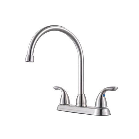 Pfister Pfirst Series 2-Handle Kitchen Faucet in Stainless (Price Pfister Stainless Steel Spray Faucet)