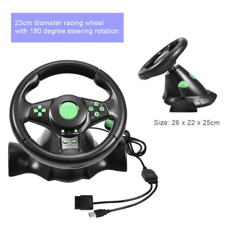 Usb Ps2 Cordless Desktop - Fosa Gaming Vibration Racing Steering Wheel Pedals for XBOX 360/ PS2/ PS3/ PC USB, pc racing wheel, wheel controller for xbox 360