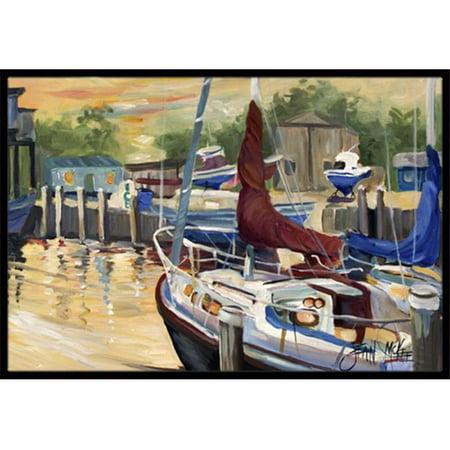 Carolines Treasures JMK1083JMAT New Sunset Bay Sailboat Indoor & Outdoor Mat, 24 x 36 in. - image 1 of 1