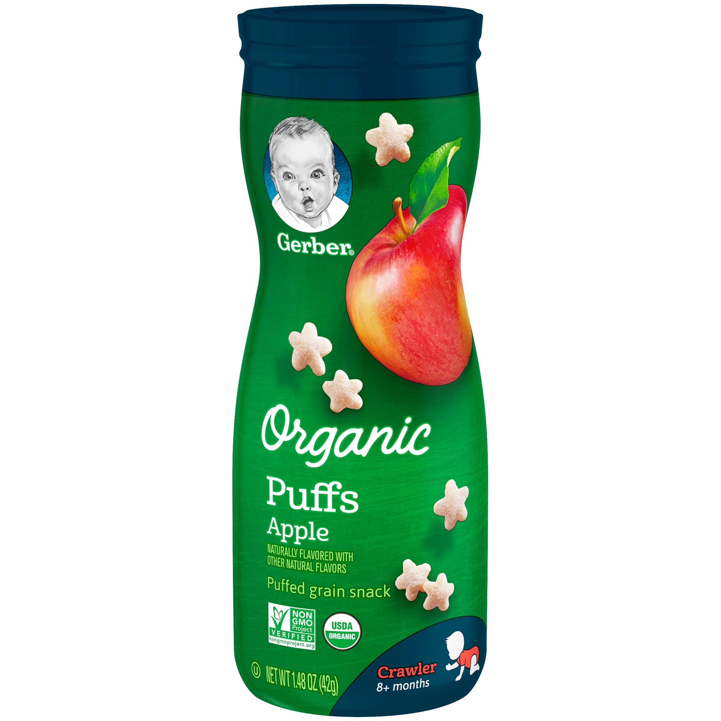 Gerber Organic Puffs, Apple, 1.48 oz.