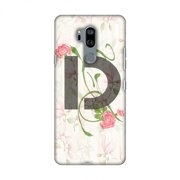 LG G7 Case, LG G7 ThinQ Case, Slim Fit Handcrafted Designer Printed Snap on Hard Shell Case Back Cover for LG G7 ThinQ - Floral Vines- D