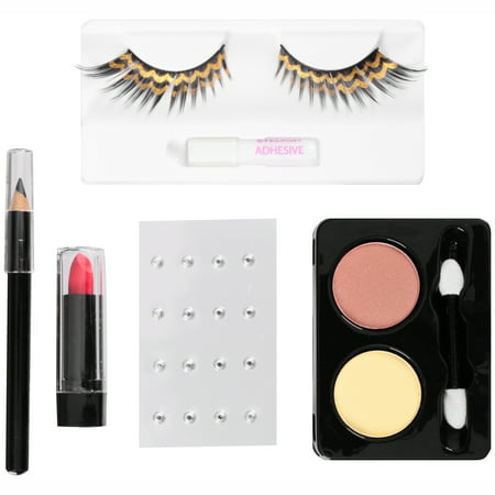 Hot Cat Halloween Makeup (Fun World® Egyptian Eyes Makeup Kit 22 pc)