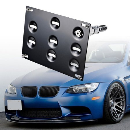 Bmw Tow Hook - GTP Front Bumper Tow Hook License Plate Mounting Bracket Relocator Holder for BMW 98-11 3 Series 4DR E46 E90 E91, 07-13 3-Series 2DR Coupe E92 E93, E82 E88 E39,1/3/5 Series, 325i 328i, E70 E71 X5 X6