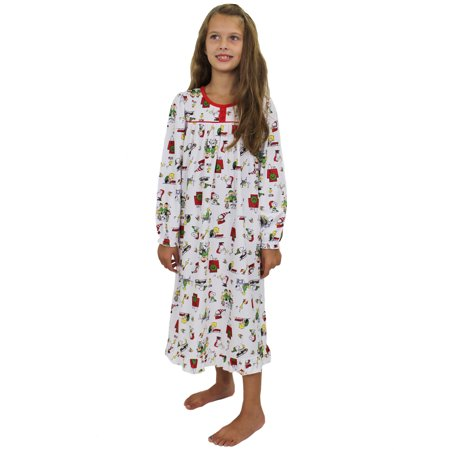 Toddler Christmas Nightgown (Peanuts Toddler Girls Christmas Holiday Granny Gown Nightgown Pajamas)