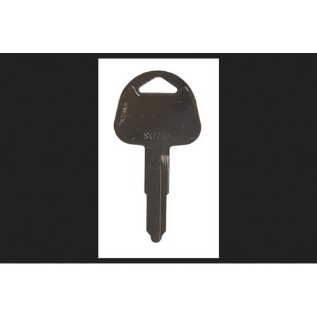 Hy Ko Motorcyle Key Blank EZ SUZ11 Double sided Nickel Plated Brass Fo