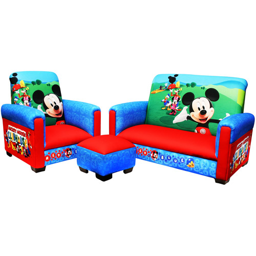 Disney Mickey Mouse Clubhouse Toddler Sofa, Chair And Ottoman