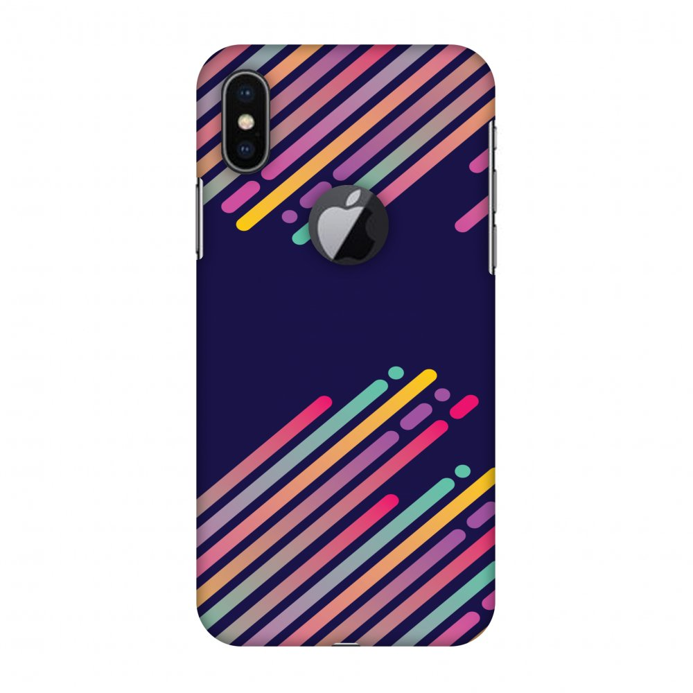 iPhone X Case - Stripes 2, Hard Plastic Back Cover. Slim Profile Cute Printed Designer Snap on Case with Screen Cleaning Kit