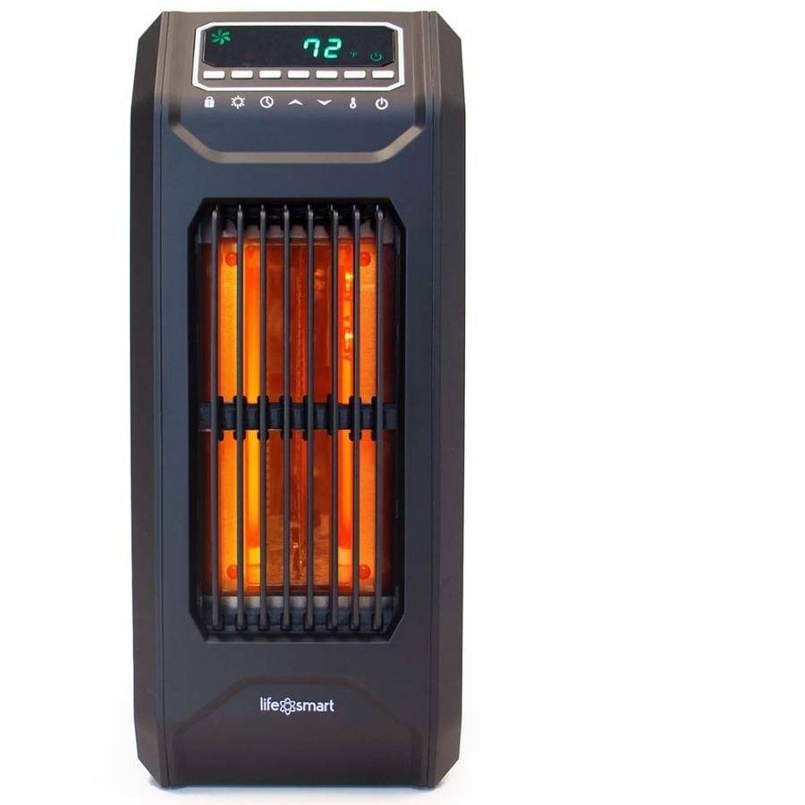 Lifelux Element Infrared Portable Oscillating Heater, Black