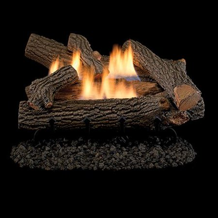 """Crescent Hill Vent Free 24"""" Gas Logs with Millivolt Control - NG"""