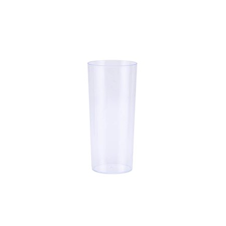 BalsaCircle 12 pcs 5 oz Clear Plastic Tall Round Glasses - Disposable Wedding Party Catering Tableware