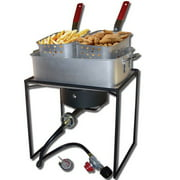 "KING KOOKER Model# 1618-16"" Rectangular Outdoor Cooker Package with 15 qt. Rectangular Fry Pan"