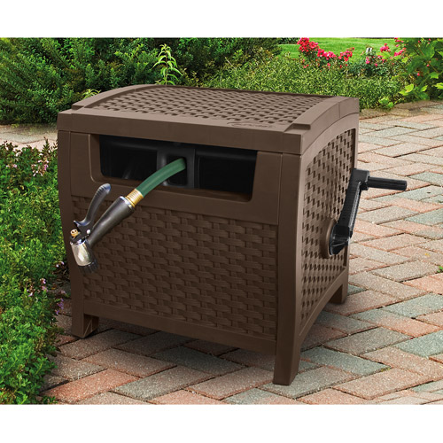 Suncast 175' Resin Wicker Hose Hideaway by Suncast