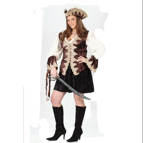 Deluxe Pirate Lady Plus Size Halloween Costume sz 16-24