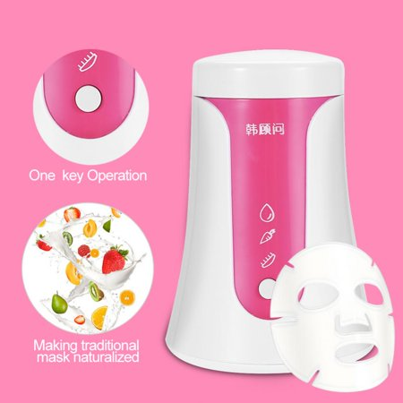 Yosoo Portable DIY Natural Fruit Vegetable Face Mask Maker + 50Pcs Collagen + 1Pc Facial Mask Model, Facial Mask Maker, Fruit Mask Machine