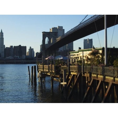 The River Cafe Under Brooklyn Bridge, Brooklyn, New York City, New York, USA Print Wall Art By Amanda