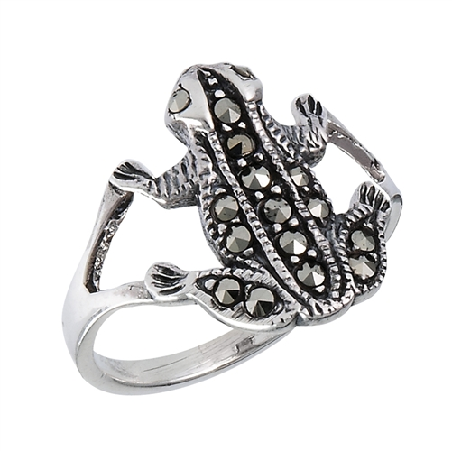 Toad Ring Frog Ring in Sterling Silver