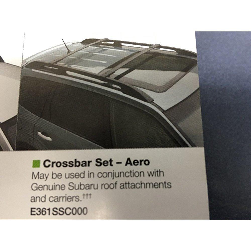 2009-2013 subaru forester oem aero cross bars roof rack e...