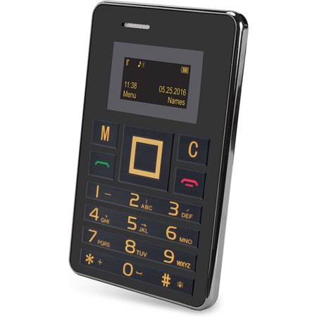 SLIDE mini Unlocked Wallet-Sized 2G GSM World Phone - Silver ()