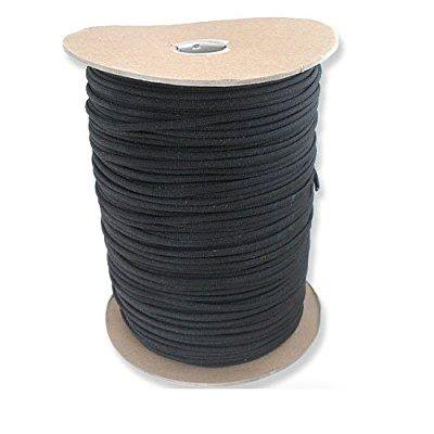 1000 foot black parachute cord paracord type iii military specification 550 thumbnail