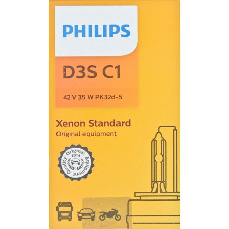 Philips D3SC1 Xenon HID Headlight Bulb, Pack of 1