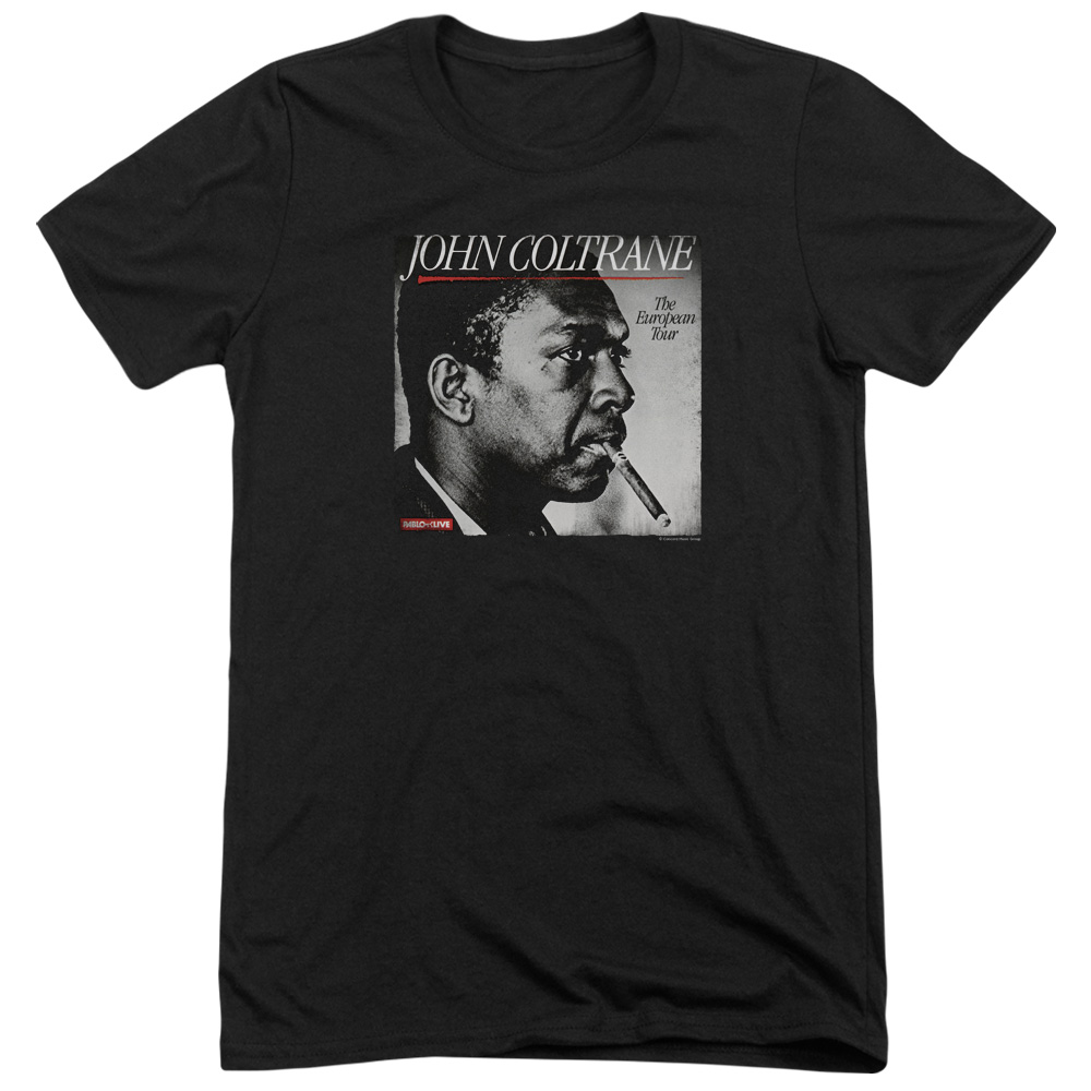 John Coltrane Smoke Breaks Mens Tri-Blend Short Sleeve Shirt