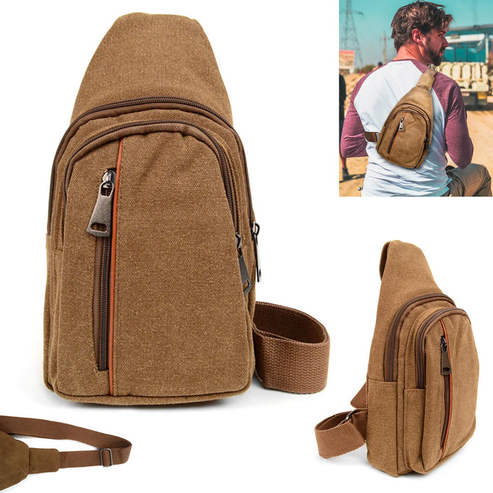 Fashion Men Shoulder Sling Chest Pack Bag Backpack Crossbody Travel Bags Unisex