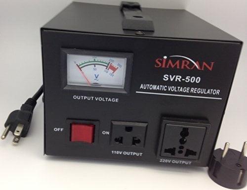 1500 WATT Grey Simran AR-1500 Power Converter Regulator Stabilizer Voltage Transformer