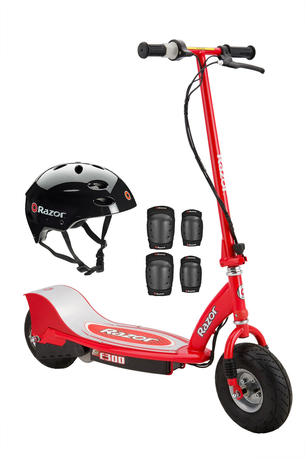 Razor E300 Electric 24-Volt Motorized Ride-On Kids Scooter with Helmet and Pads by Razor