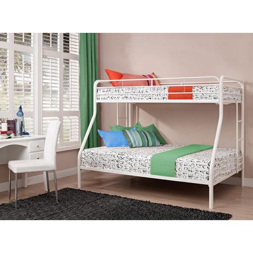 Bunk Bed Image dorel twin over full metal bunk bed, multiple colors - walmart