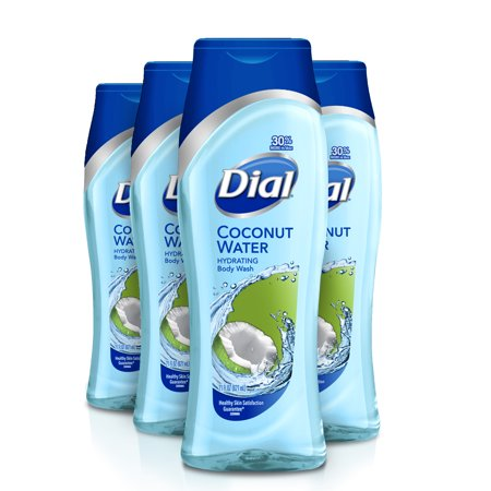 (Pack of 4) Dial Body Wash, Coconut Water, 21 Ounce