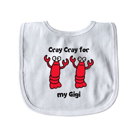 Lobster Cray Cray for my Gigi Baby Bib White   One Size](Lobster Bibs)