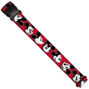 Mickey Mouse Expressions Red Black White Luggage Strap  One Size