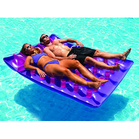 Swimline 9036 Two Person Inflatable Swimming Pool Floating Air Mattress - 2 Floating Pool