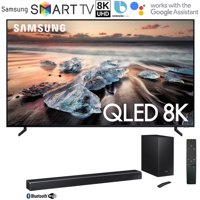 Samsung QN75Q900RB 75-inch Q900 QLED Smart 8K UHD TV (2019 Model) Bundle with Samsung 370W Virtual 5.1.2-Channel Soundbar System with Wireless Subwoofer