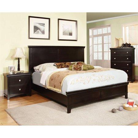 Furniture of America Fanquite 3 Piece King Bedroom Set in Espresso ()