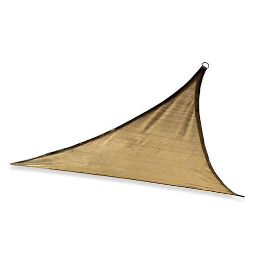 ShelterLogic ShadeLogic 16' Heavy Weight Triangle Sun Shade Sail in Sand