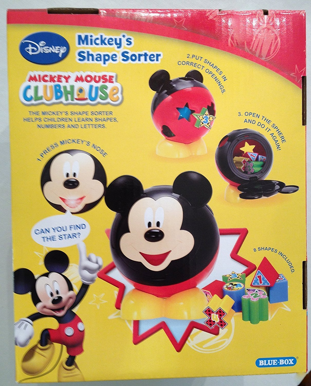 Disney Mickey Mouse Clubhouse Mickey\'s Shape Sorter - Walmart.com
