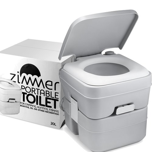 ZIMMER Comfort Portable 0.1 GPF Round One-Piece Toilet by