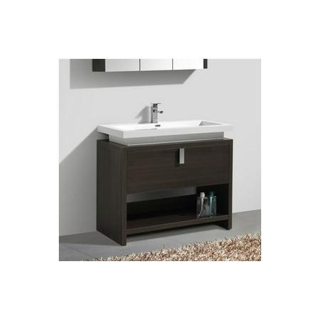 Kube bath levi 39 5 39 39 single modern bathroom vanity set for Levi 29 5 single modern bathroom vanity set