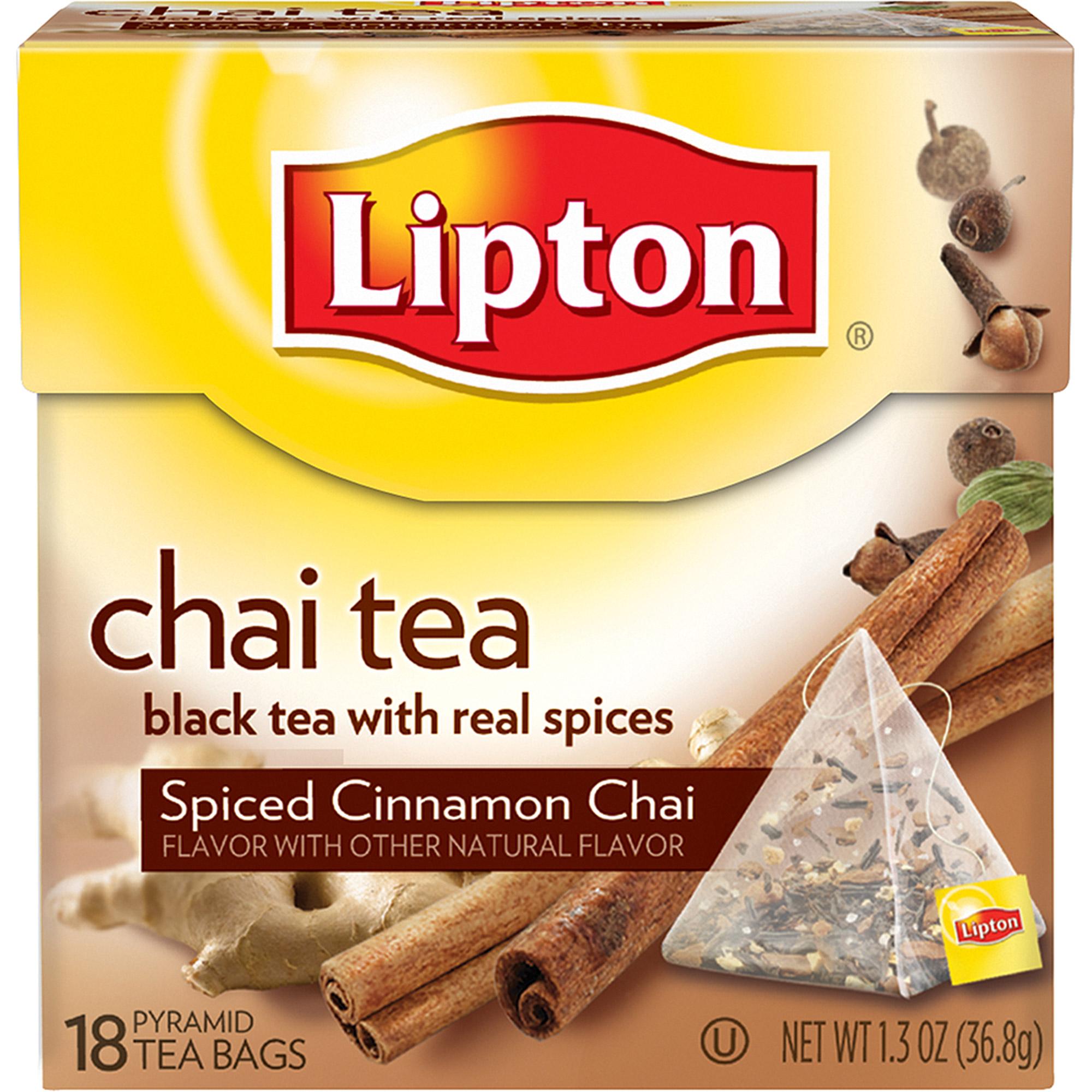 Lipton Spiced Cinnamon Chai Tea Pyramids, 18 ct