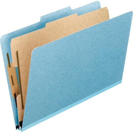 Folder Part (Pendaflex, PFX02614, 4-Part Classification Folders, 10 / Box, Blue)
