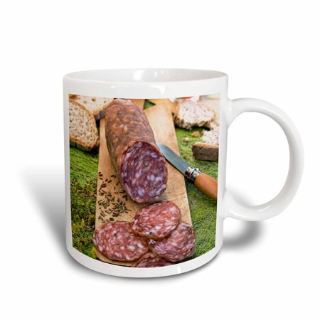 3dRose Cuisine, Finocchiona, Tuscan salami, Florence, Italy - EU16 NTO0465 - Nico Tondini, Ceramic Mug, 15-ounce