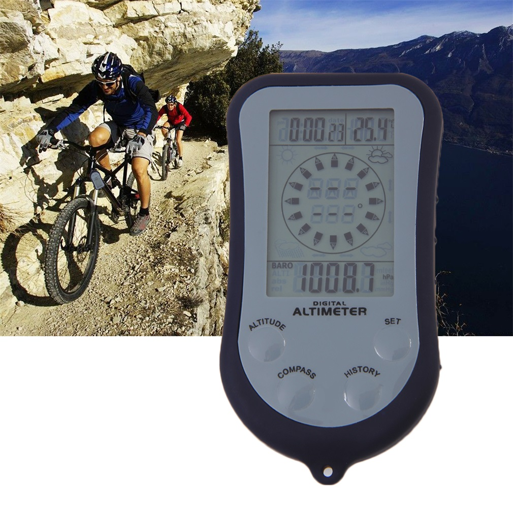 IPX 4 Waterproof LCD Digital Mini Portable Compass Altimeter Barometer by