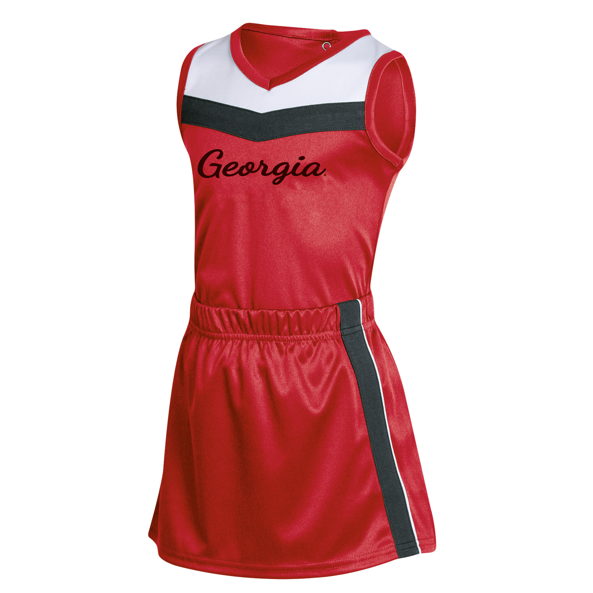 Girls Toddler Russell Red Georgia Bulldogs 3-Piece Cheer Set