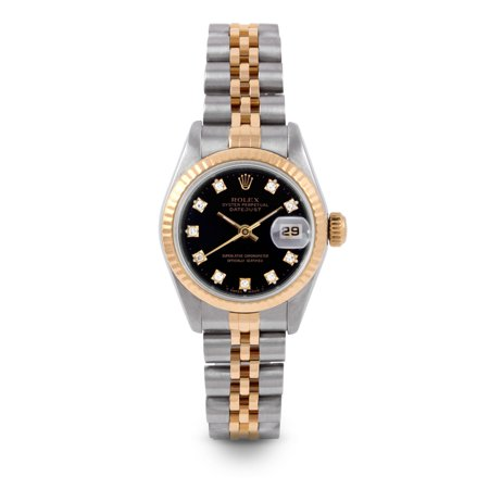 Pre Owned Rolex Datejust 6917 w/ Black Diamond Dial 26mm Ladies Watch (Certified & Warranty Included)