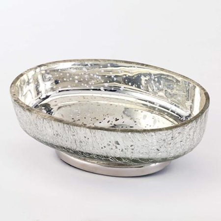 Avanti mercury glass crackle silver soap dish for Silver crackle glass bathroom accessories