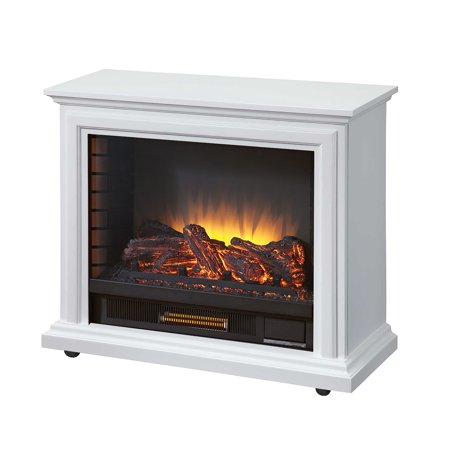 Pleasant Hearth GLF-5002-50 Sheridan Mobile Fireplace, White