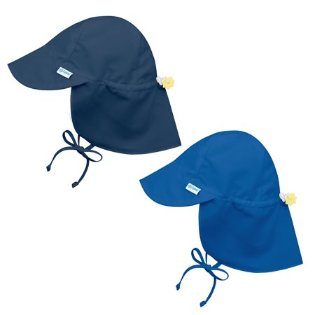 i play Baby and Toddler Flap Sun Protection Hat-Navy and Royal Blue - 2 Pack