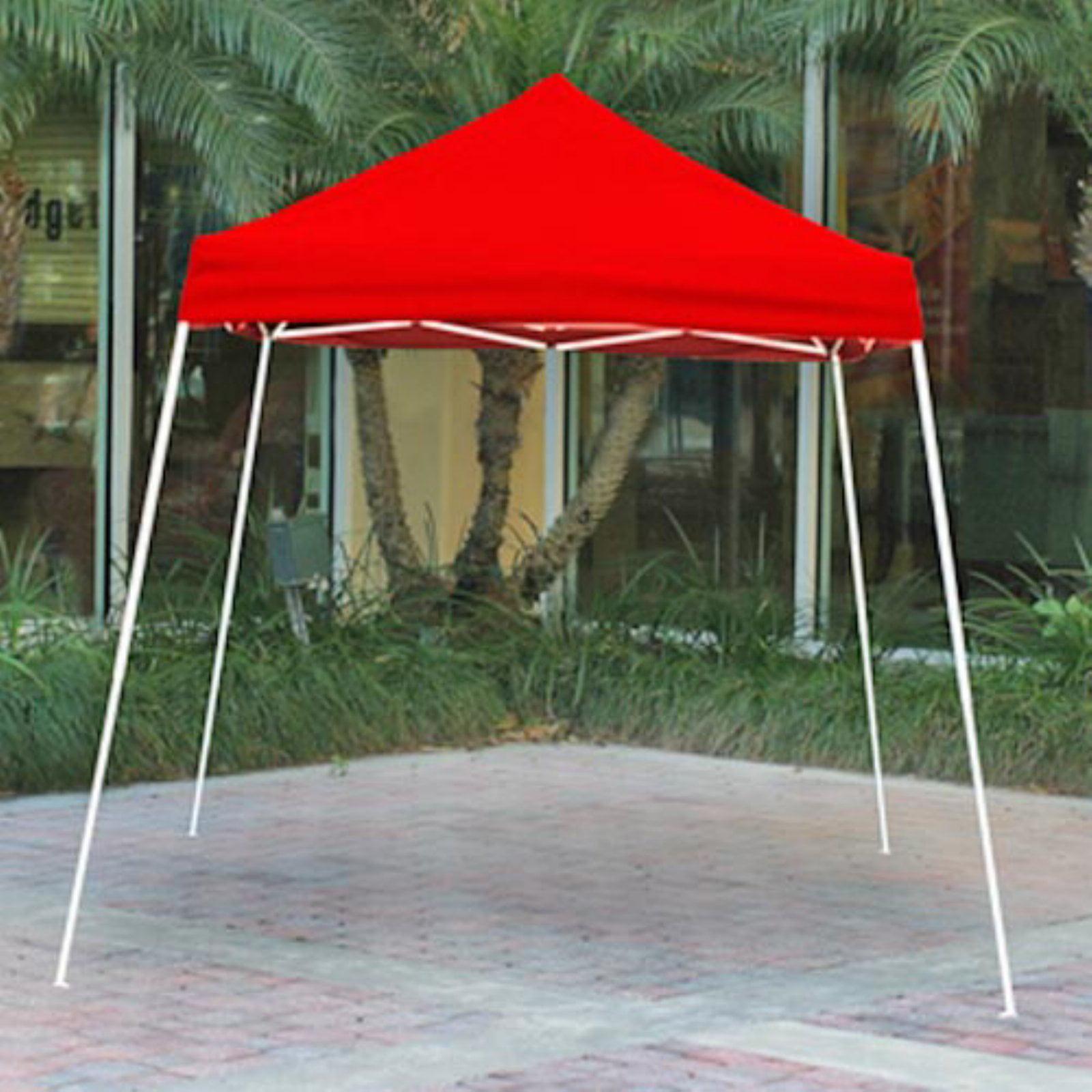 & 8u0027 x 8u0027 Sport Pop-up Canopy Slant Leg Red Cover - Walmart.com